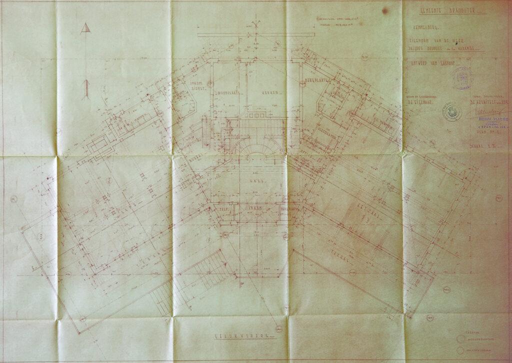Origineel Bouwplan Hostellerie Kemmelberg: Gelijkvloers