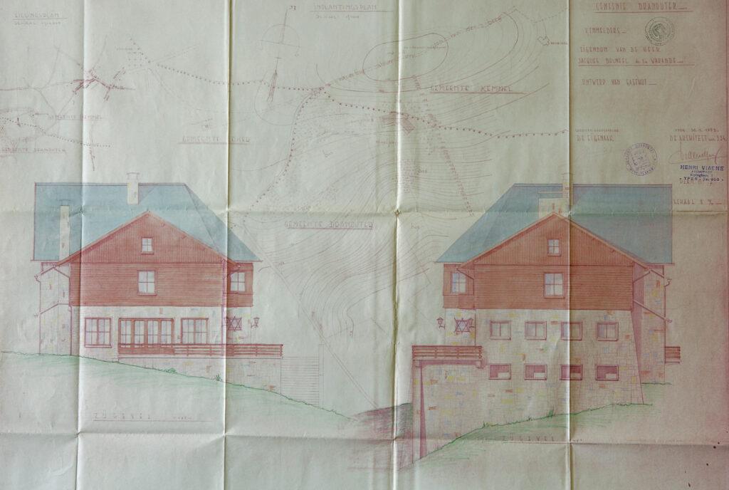 Bouwplan Hostellerie Kemmelberg: liggingsplan.