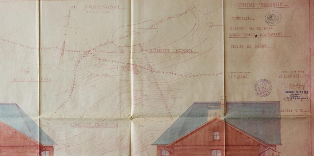 Hostellerie Kemmelberg - inplantingsplan (januari 1953)