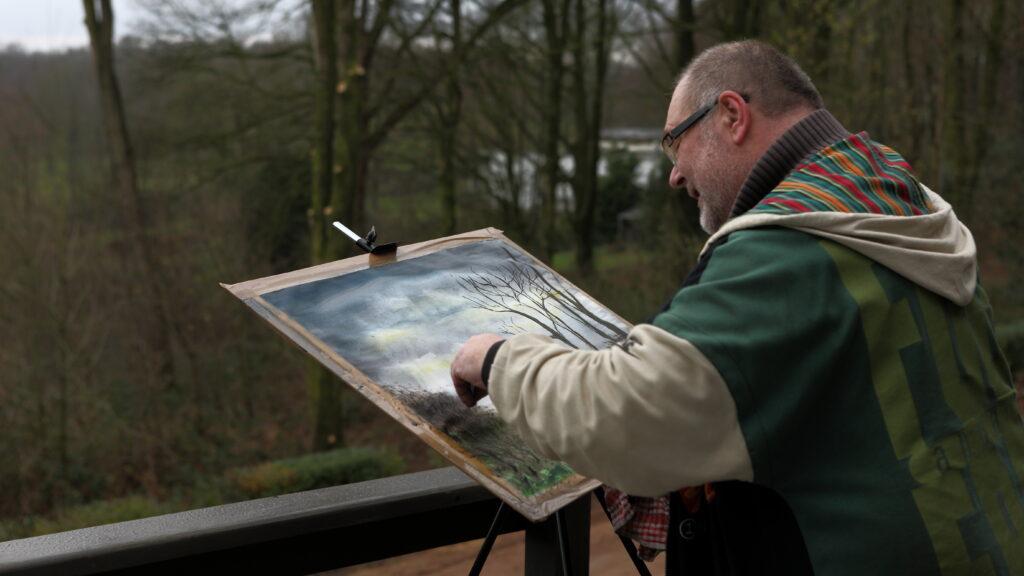 Het panorama van en de natuur rond Hostellerie Kemmelberg **** heeft als menig schilder en tekenaar geïnspireerd.