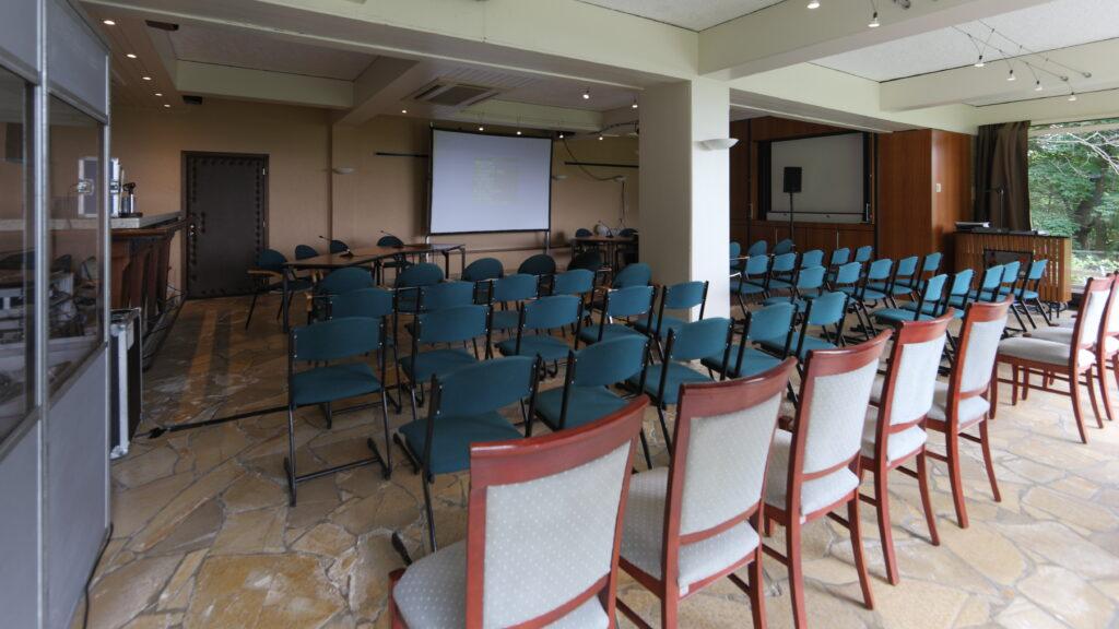 Nationale conferentie van een beroepsorganisatie. In de Jupiter zaal stond ook een vertaalcabine opgesteld.
