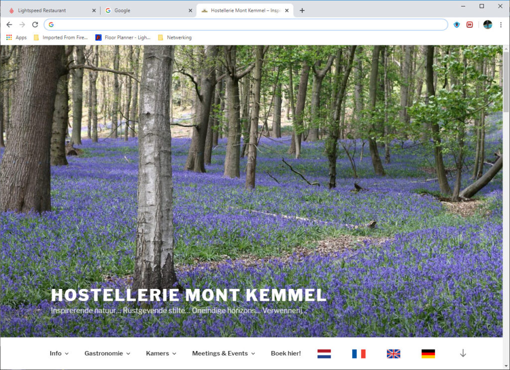 De nieuwe webstek van Hostellerie Kemmelberg ****.