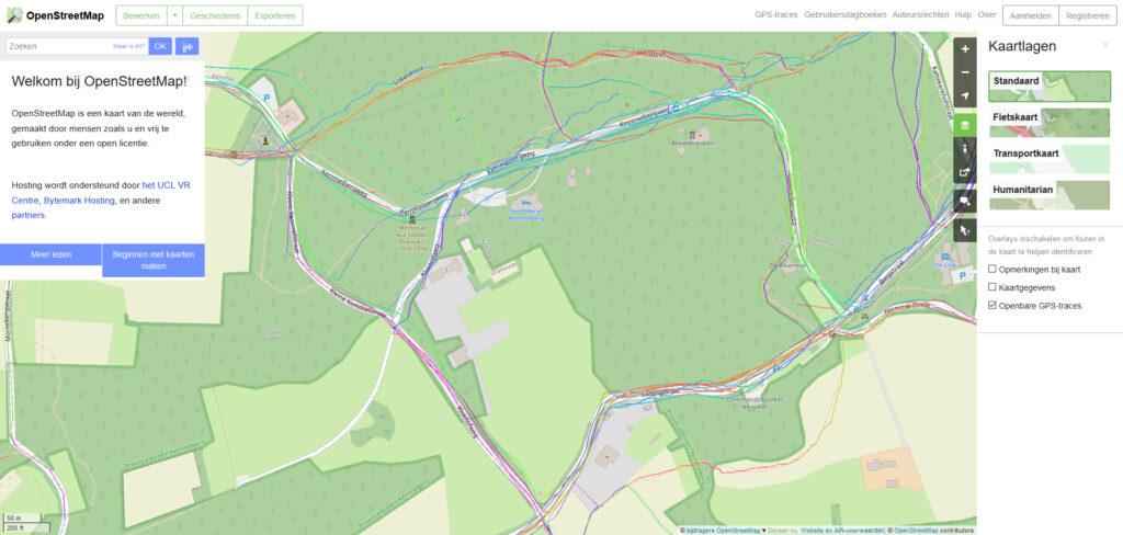 OpenStreetMap voor de Kemmelberg
