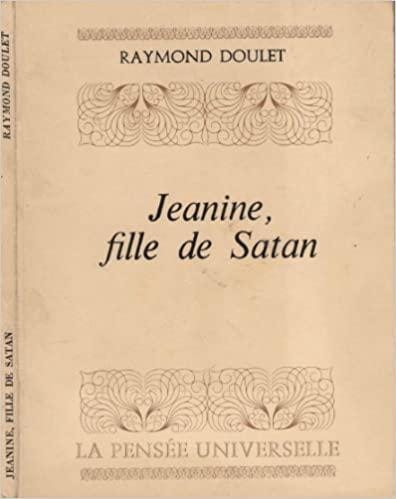 """Het boek """"Jeanine, fille de Satan""""."""