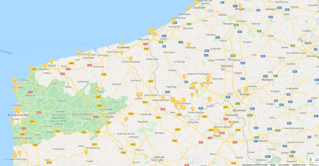 Google map: bezoeken met de wagen