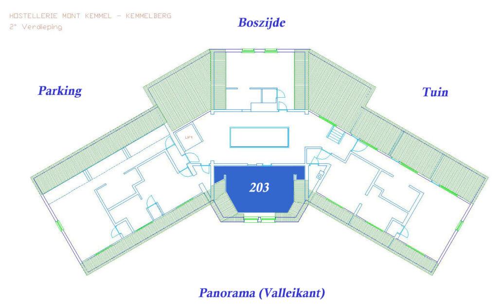 Plan VIP Kamer 203 (Valleikant, 28 m², duo jacuzzi)